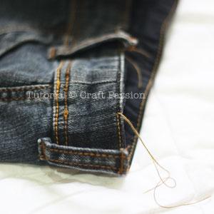 Recycle Denim Skirt