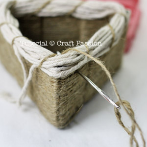 how to bind basket top