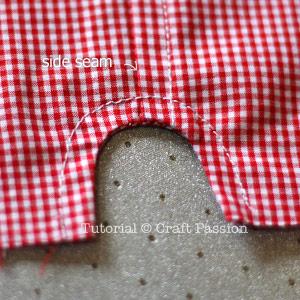 curve notch on short pants