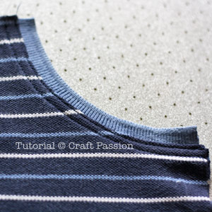 sewing jersey shorts with ribbed band pocket