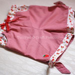 sew tie hem girl shorts