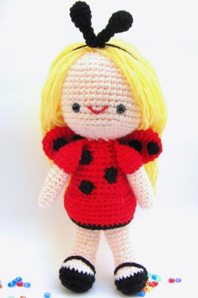 Giveaway June 11 Amigurumi Lady Bug Girl Closed Craft