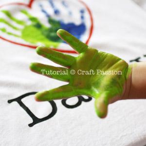 son's hand print
