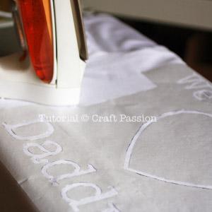 iron stencil design on t-shirt
