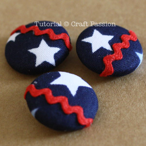 red white blue buttons