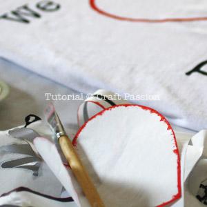 remove freezer paper stencil