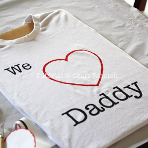 we i love daddy stencil