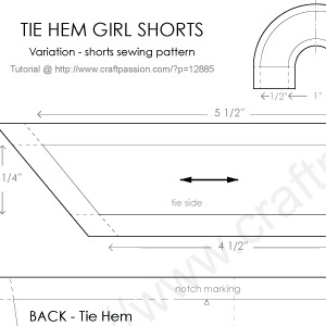 Girl Shorts With Tie Hem Free Sewing Pattern Craft
