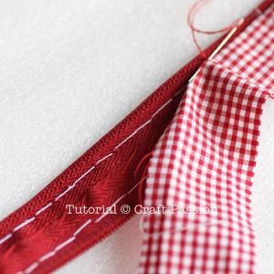 Slip stitch lining