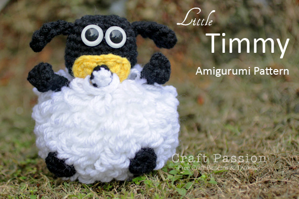 Free crochet pattern: Small bobble sheep // Emma Fields ... | 392x588