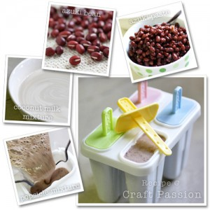 azuki bean popsicle ingredients & method