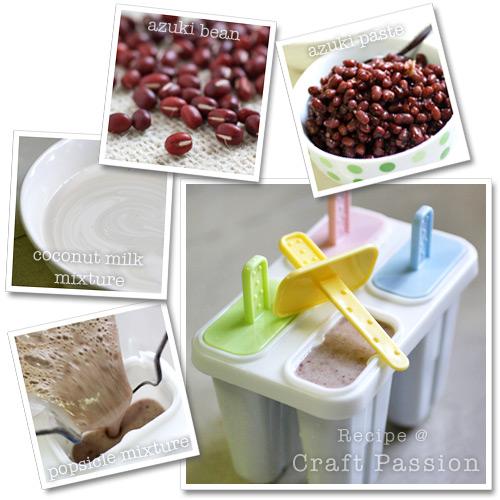 azuki bean popsicle ingredients & method