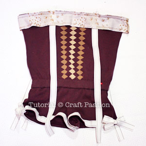 sew chestband and shoulder strap