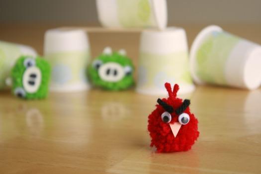 mini pom pom angry bird