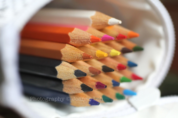 color pencil closed-up Canon EOS 60D