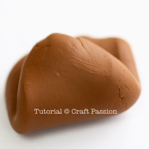 soft smooth polymer clay after kneading
