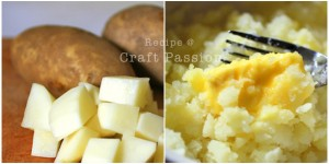 chunky mashed potatoes with butter