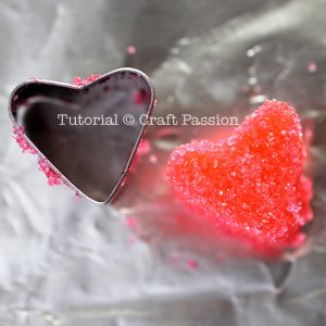 how to make heart shaped sugar cube