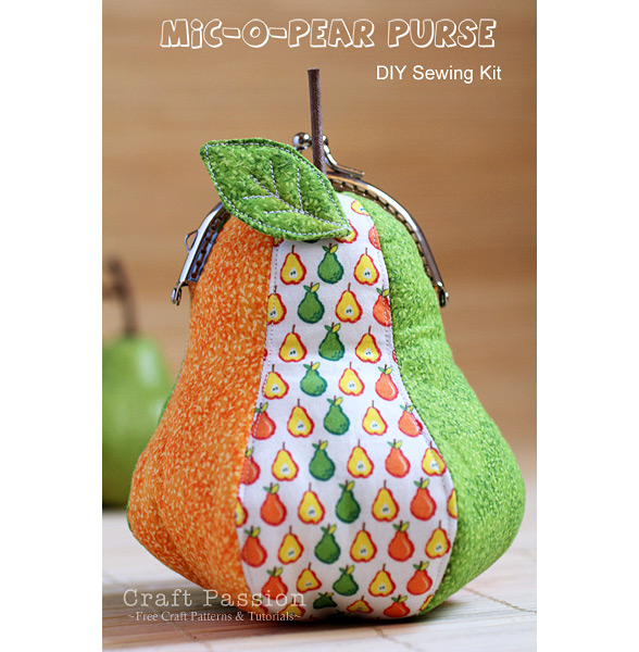 ball clasp frame pear purse