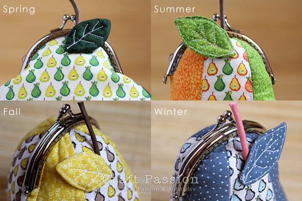 four season pear purse