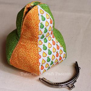 framed pear purse diy 12