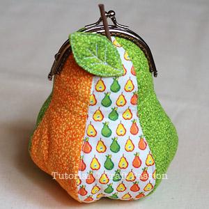 sew pear-shaped gamaguchi coin purse