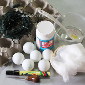 Materials to make ghost lights