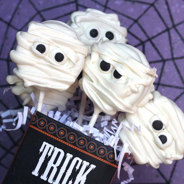 halloween mummies cookies