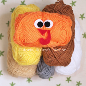 crochet pattern turkey coaster 1