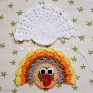 crochet coaster back