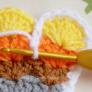 crochet pattern turkey coaster 20