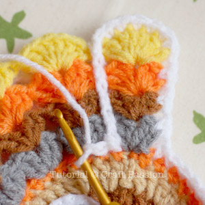 crochet pattern turkey coaster 21