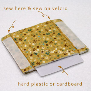 attach velcro and hard card