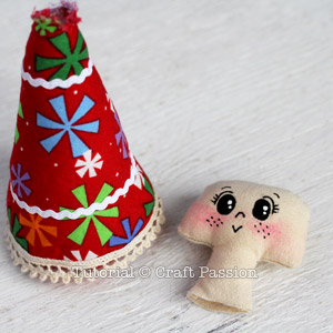 Sew Angel Ornament 13