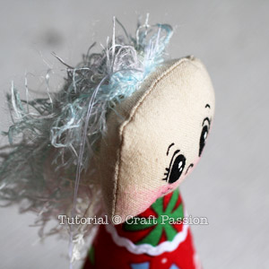 Sew Angel Ornament 16