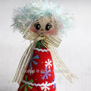 Sew Angel Ornament 19