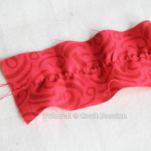 prepare fabric for poinsettia