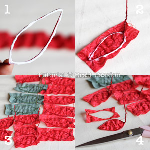make fabric poinsettia