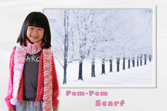 Pom Pom Scarf Knitting Pattern