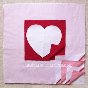 sew valentine pillow