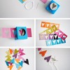 Paper Punch Heart Garland