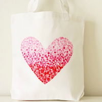 how to: painted heart bag