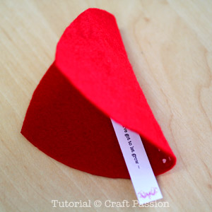 make heart fortune cookies 5