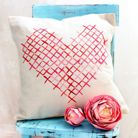 Painted Cross Stitch Pillow