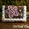 TriFold Floral Wallet