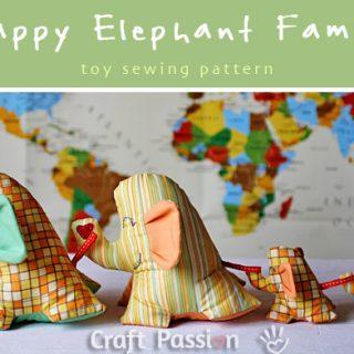 Elephant Stuffed Toy Sewing Pattern