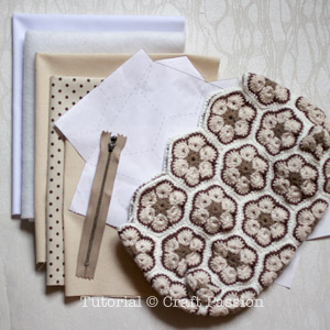 materials to sew crochet purse
