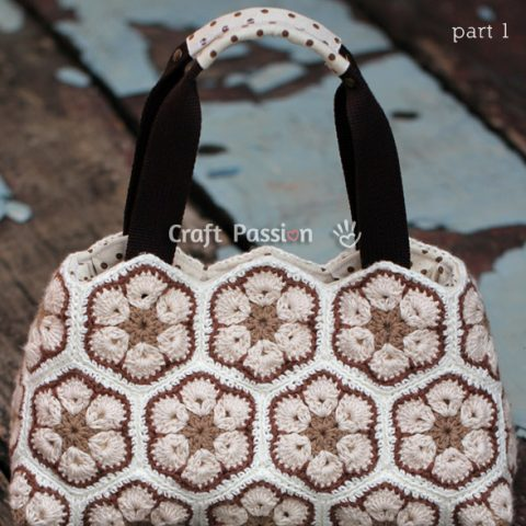 African Flower Crochet Purse Pattern - Part 1