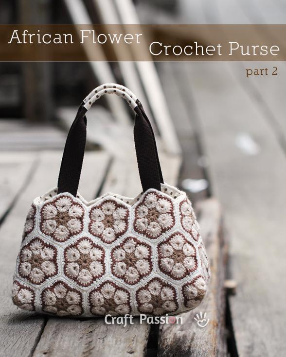 african flower crochet purse 4