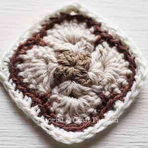 crochet african flower square 1